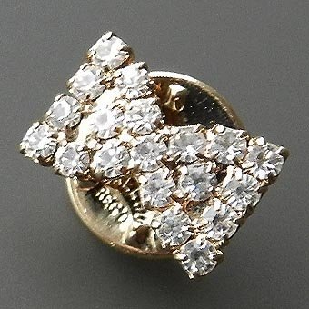 Small BALLOU Pin With Crystals From France Well P