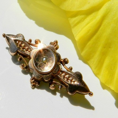 Antiquarian Gilded Brooch Made in Germany in 1920
