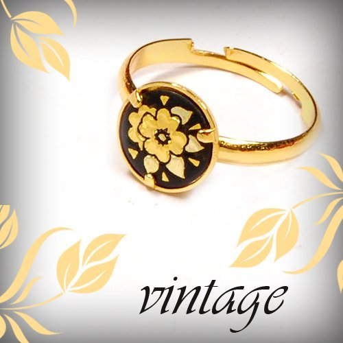 Stylish Metal Ring Gilded With 14K Gold Fashionab