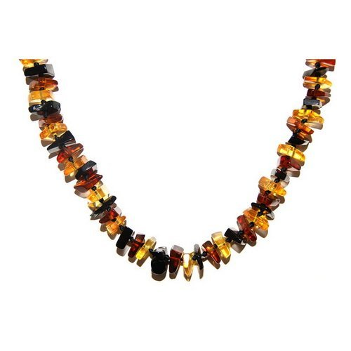Angular Beads Hand Crafted Multicolor Baltic Ambe