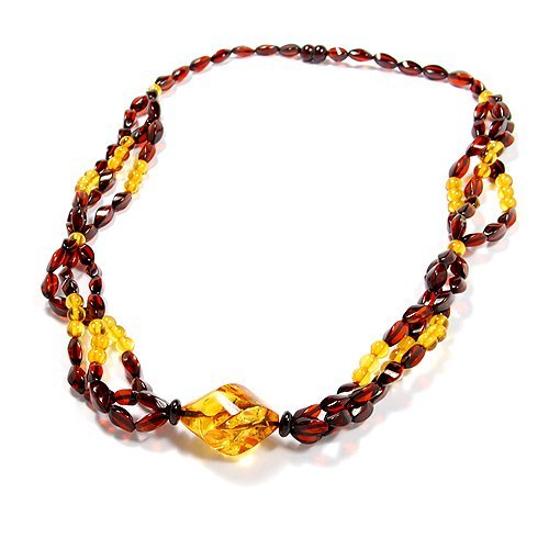 Exquisite Gorgeous Faceted Baltic Amber Necklace