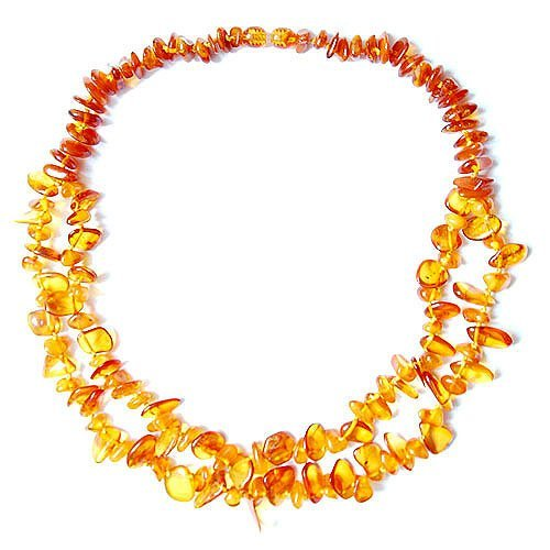 Bright Honey Color Baltic Amber Two Rows Necklace