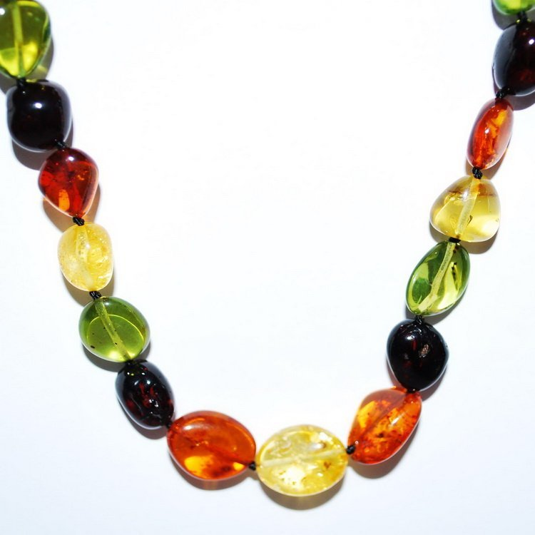 Necklace From Horizontal Drill Mix Color Caribbea