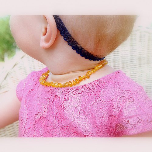 Natural Baltic Amber Baby Teething Necklace Poli