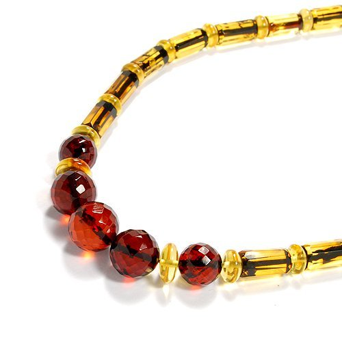 Gorgeous Genuine Faceted Baltic Amber Necklace