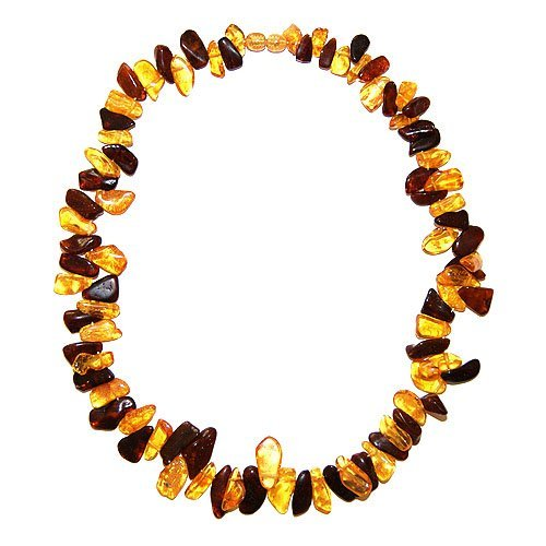 Two Colors Necklace Made From Baltic Amber
