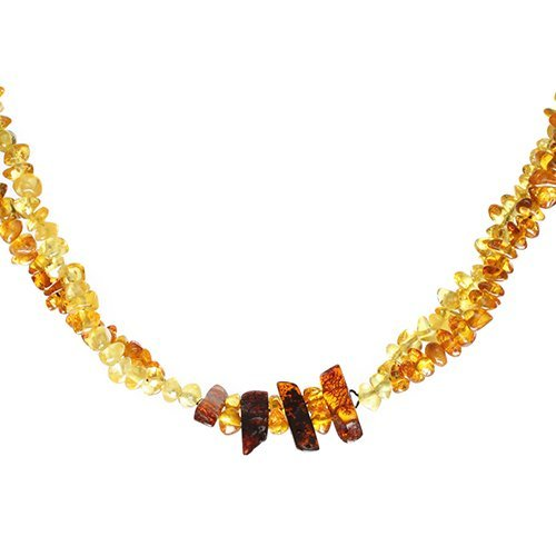 Handcrafted Baltic Amber And Red Thread Necklace