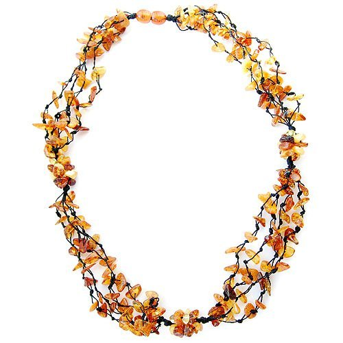 Wreathed And Handcrafted Baltic Amber Beads Neckl
