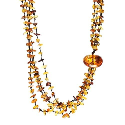 Baltic Amber With One Bigger Piece Necklace Well
