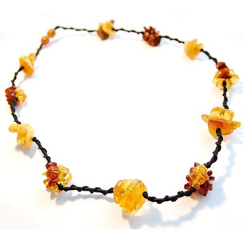 Necklace From Various Colors Baltic Amber