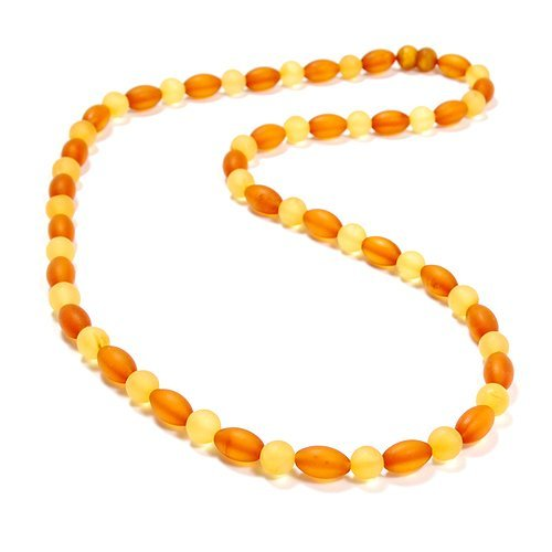 Nicety Made Frosted Baltic Amber Beads Necklace