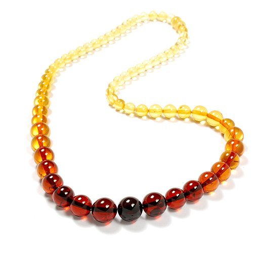 Beautiful Necklace Made From Round Baltic Amber B