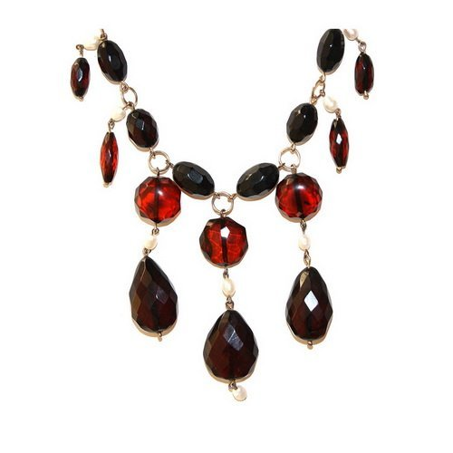 Cherry Color Nicety Faceted Baltic Amber Beads An