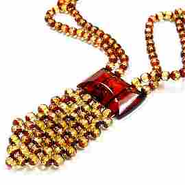 Adorable Necklace Made From Faceted Two Shades Ba