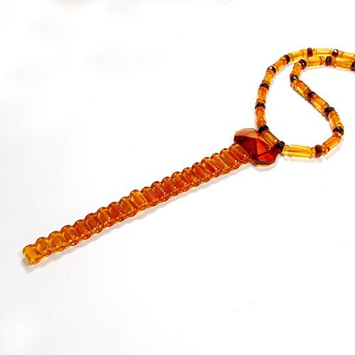 Beautiful Necklace Made From Genuine Honey Color