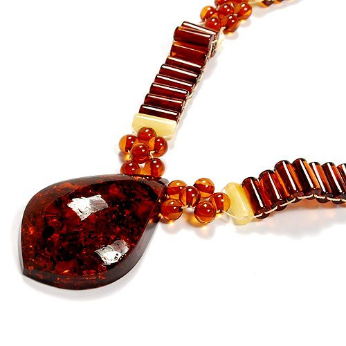 Nicety Polished Baltic Amber Beads Necklace