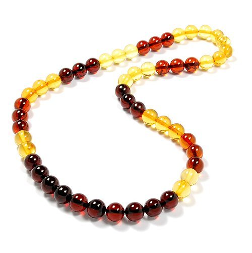 Natural Baltic Amber Polished Round Balls 0,32 In