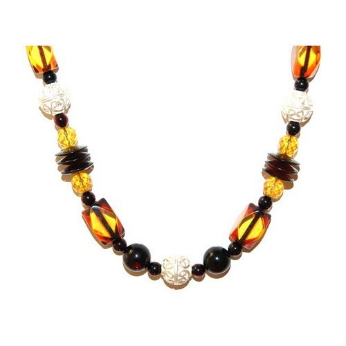Genuine Baltic Amber And Silver Necklace