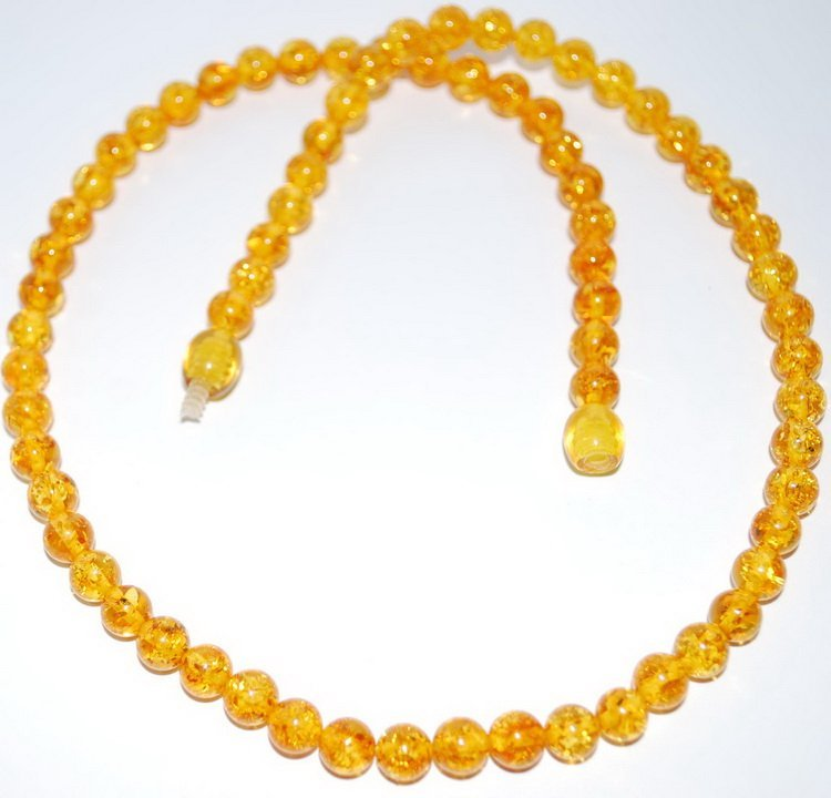 Sparkling Citrine Color Calibrated Baltic Amber B