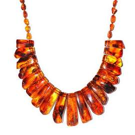Classic Necklace From Big Genuine Baltic Amber Po