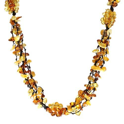 Baltic Amber Five Rows Necklace Weight 26 g