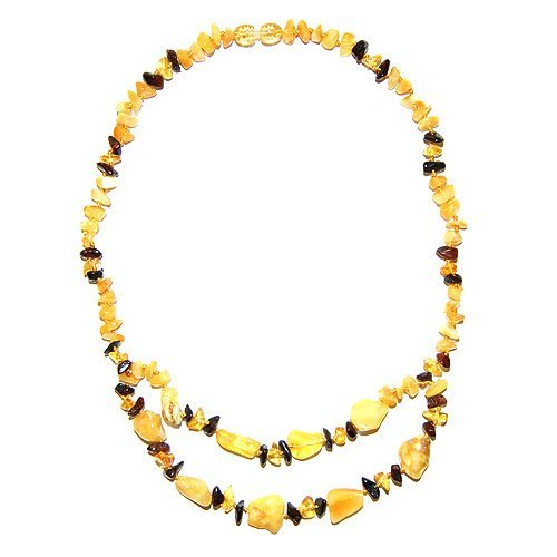 Mix Color Natural Baltic Amber Beads Necklace