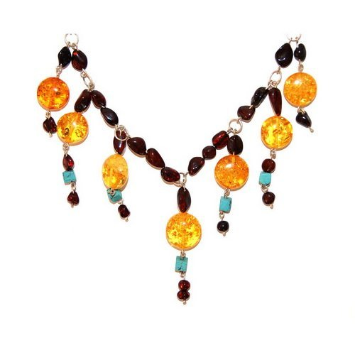 Outstanding Combination of Baltic Amber, Silver A