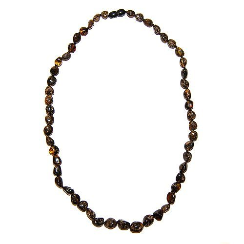 Natural Dark Color Amber Necklace Made From Balti