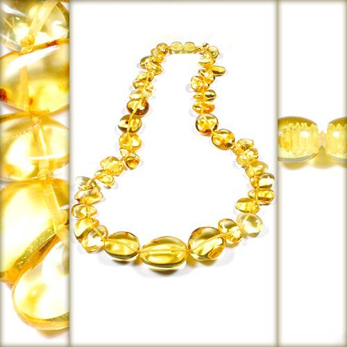 Polished Citrine Color Baltic Amber - Beautiful A