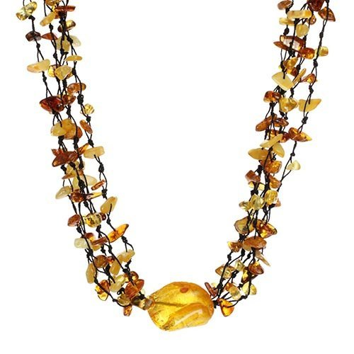Baltic Amber Five Rows Necklace Made In Lithuania