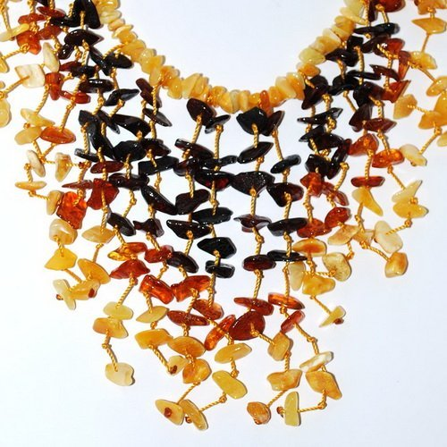 Necklace From Many Colorful Genuine Baltic Amber
