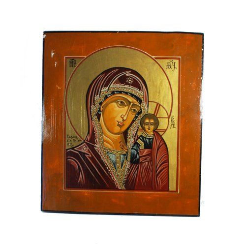 Wooden Russian Icon of Mother of God Kazan