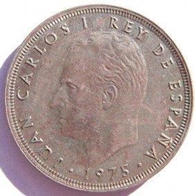 Metal Coin - 25 Pesetas.