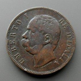 10 Centesimi From 1893 - Italy.
