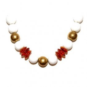 Extraordinary Necklace Made From Baltic Amber And