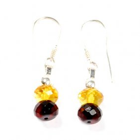 Top Quality Hand Crafted Faceted Amber Set Of Ear