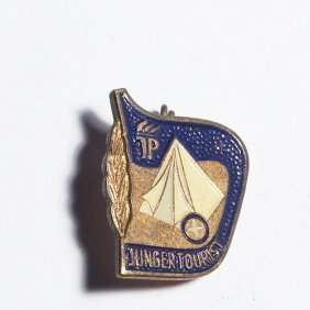 Old Pin From Germany. Junger Tourist. Jung Pionie
