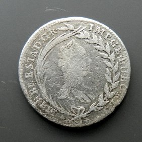Silver Coin - 20 Kreuzer From Austria.made In 176