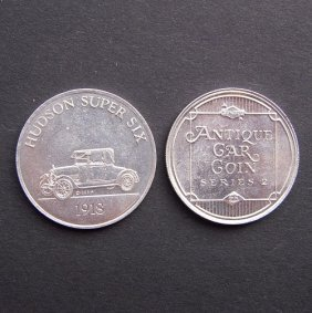 Antique Car Coin From 1970-75. With Image Of Huds