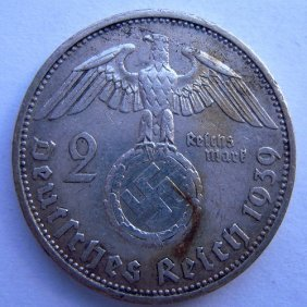 Silver Coin. German Iii Reich, 2 Mark Coin Made I