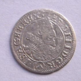 Silver Coin - 3 Kreuzer From 1624 Roman - German