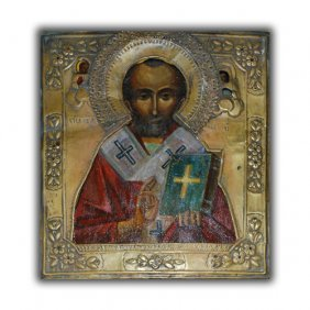 Russian Icon Of St. Nicholas The Miracle Worker 1