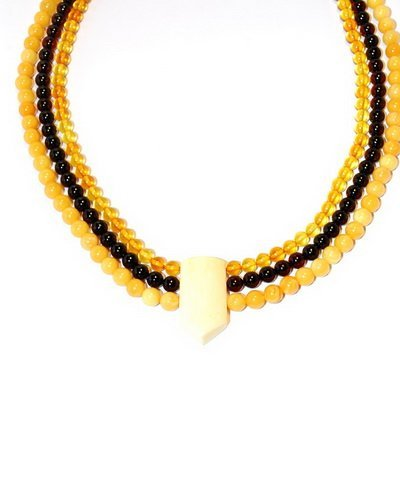 Necklace From Nicety Polished Genuine Baltic Ambe