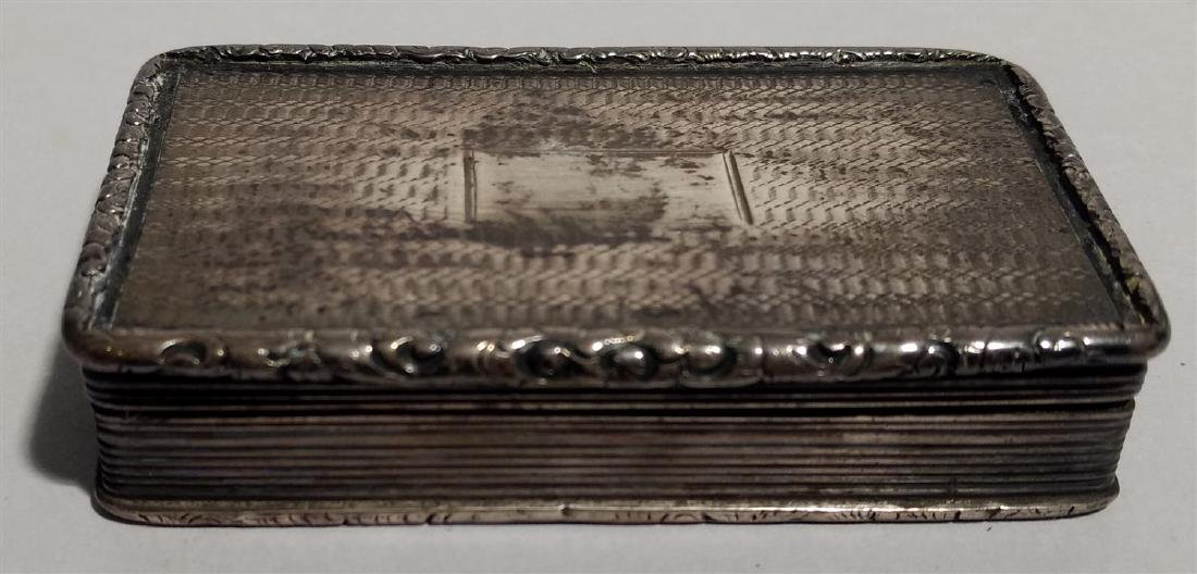 Sterling Silver. Circa 1830's Francis Clark Vinaigrette