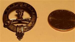 Sterling Silver 1895 Wilson Sharp Cloak Pin