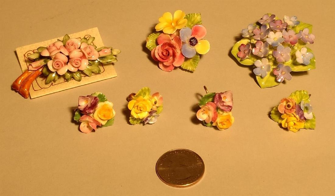 Vintage Lot of Pins Brooches Earrings