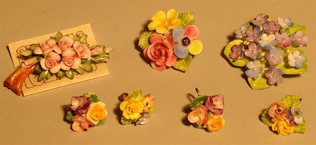 Vintage Lot of Pins Brooches Earrings - 2