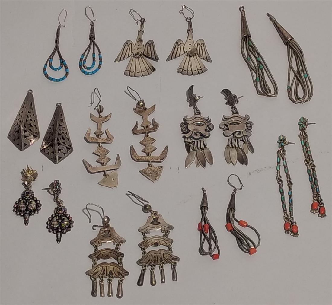 Southwestern Jewelry Sterling Silver Earrings.