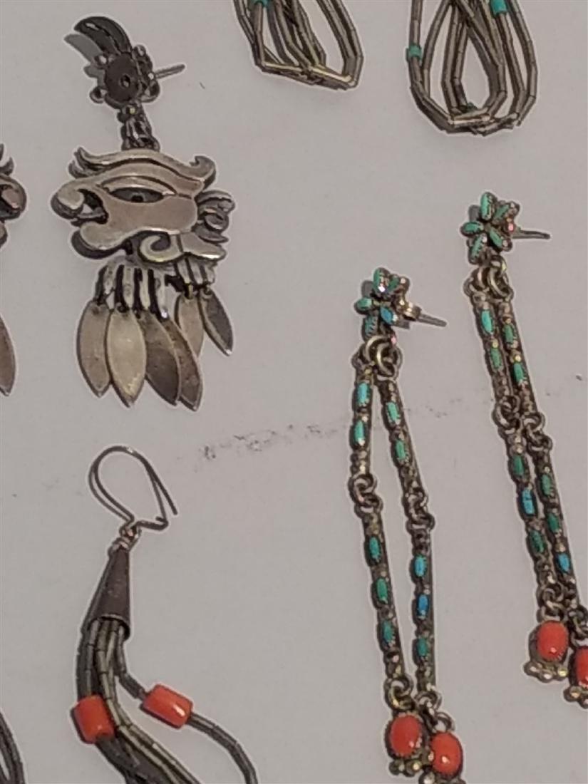 Southwestern Jewelry Sterling Silver Earrings. - 2