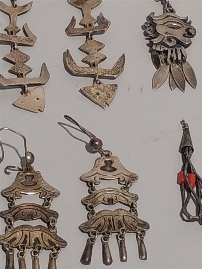 Southwestern Jewelry Sterling Silver Earrings. - 3